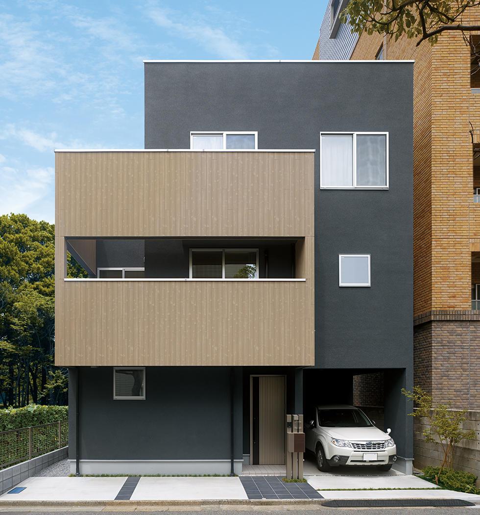 家族の時間を大切にできるスタイリッシュな都市型3階建住宅