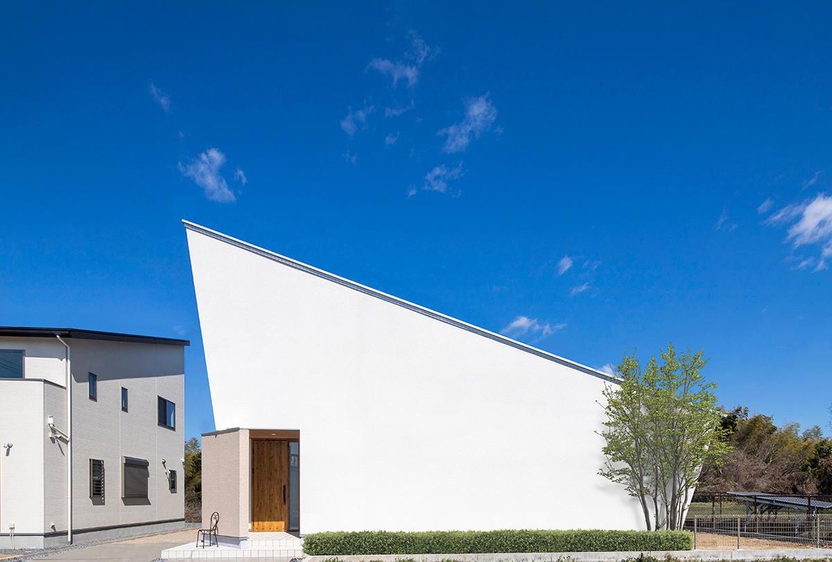 外観が印象的な平屋のサロン併用住宅