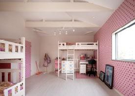 広くて可愛い子ども部屋にリフォーム