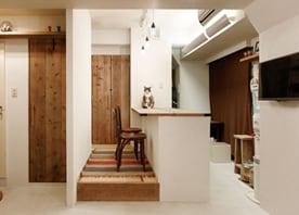 猫と暮らす自然素材の家