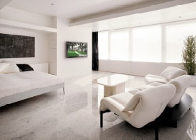 隅々までデザインされた空間が生むホテルのようなくつろぎ