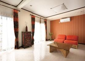 和室を一新。アジアンテイストの大空間に。