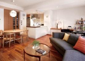 デザイン性の高いリビング・キッチンが誕生。