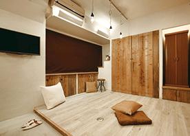 足場板再利用のセンスと収納アイディアでお気に入りの一室に