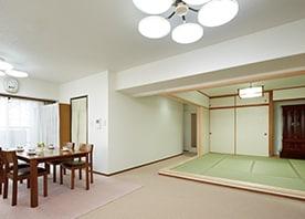 間仕切り壁を取り払い 和室を小上がり空間にする