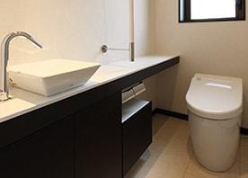 人と環境にやさしいシンプルトイレ