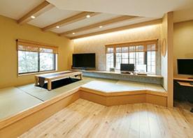 和室まで一体化した、集いのLDKをデザイン。