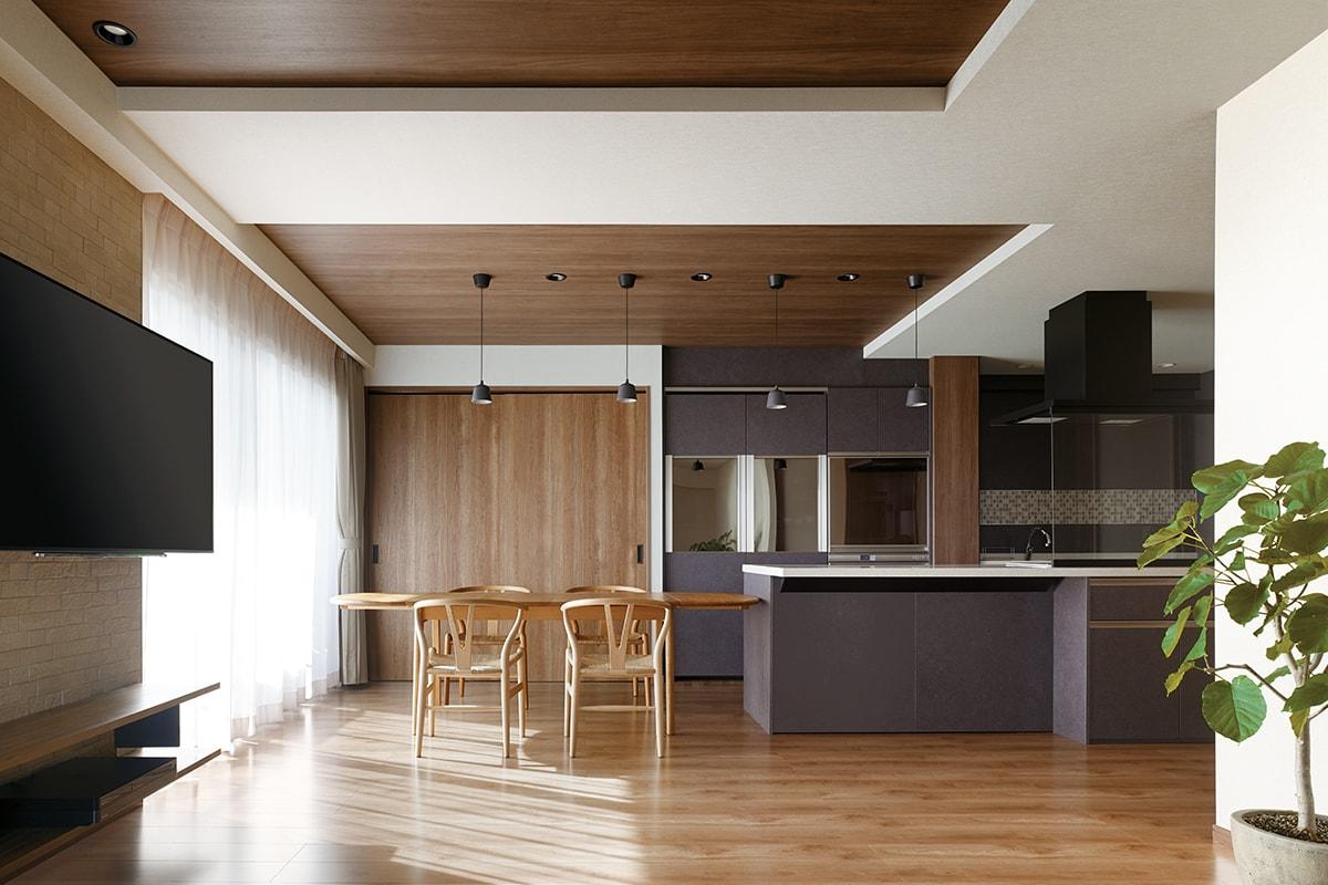 ホームパーティを楽しむ、開放空間をデザイン。