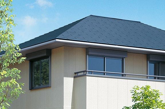 太陽の熱を受けやすい 屋根・壁面からの熱の進入を防ぐ